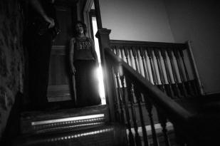 Senior Patrol Officer John Gleeson 52, responds to a domestic disturbance call. Newburgh, NY.