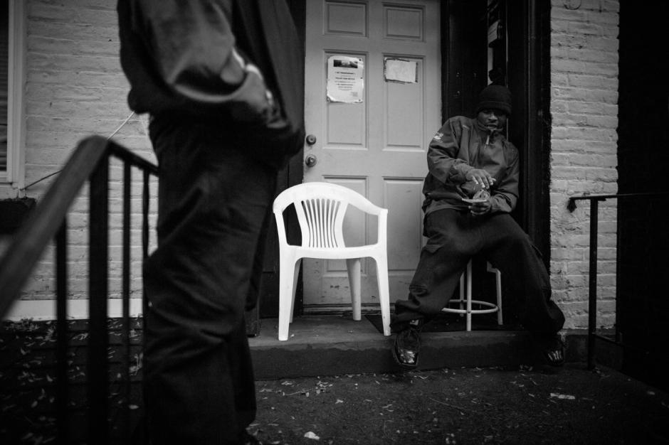 Residents on Johnston Street, Newburgh, NY.