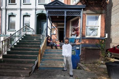 Family in Newburgh, NY.