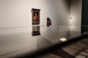 """ABU DHABI, UNITED ARAB EMIRATES-November 13, 2017: The Louvre Abu Dhabi's collection includes Giovanni Bellini's """"Madonna and Child"""" (1480 to 1485). Louvre Abu Dhabi CREDIT: Katarina Premfors/The New York Times"""